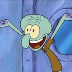 Squidward-Happy