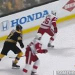 Lucic Dirty Stick to Balls Hit | image tagged in gifs,hockey,captain hindsight | made w/ Imgflip video-to-gif maker
