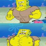 spongebob a real man! meme