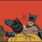 batman slapping robin no bubbles meme