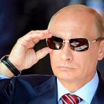 Putin on sunglasses
