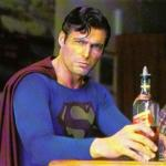 Drunk Superman meme