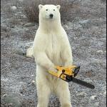 chainsaw polar bear meme