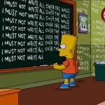 bart simpson blackboard meme