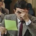 Mr bean exam meme
