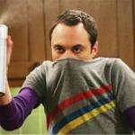 Sheldon - Go Away Spray meme