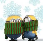winter minions meme