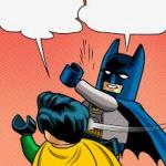 lego batman slapping robin