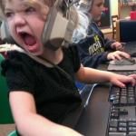 angry little girl gamer meme