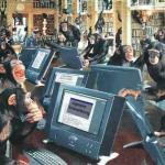 Monkeys on typewriters meme