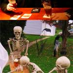 Waiting Skeletons meme