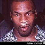 Mike Tyson Thnowing meme
