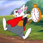 "White Rabbit ""I'm late!"" meme"