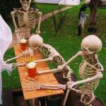 skeletons-drinking meme