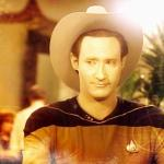 Star Trek Data in cowboy hat meme