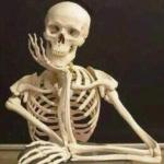 skeleton waiting meme