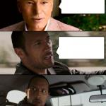 Professor X & The Rock driving meme
