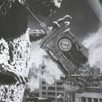 Godzilla destroys a Clock Tower meme