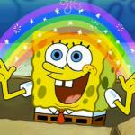 Spongebob's Imagination Rainbow meme