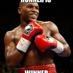 RUNNER IS WINNER | image tagged in mayweather,funny memes,afraid,sports,boxing,boxingwiththestars | made w/ Imgflip meme maker