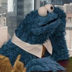Cookie Monster thinking meme