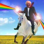 Bernie Sanders on magical unicorn meme