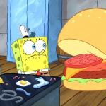 sponge bob talking to krabby patty meme