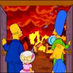 The Simpsons Hell fire meme
