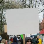 Blank protest sign meme