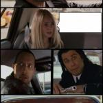 the rock driving and pulp fiction Too meme