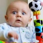 Shocked baby meme