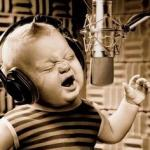 Singing Baby In Studio  meme