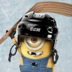 Hockey Minion meme