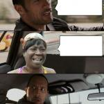 The Rock driving Sweet Brown meme