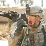 US Army Soldier yelling radio iraq war meme