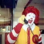 Ronald McDonald on the phone meme