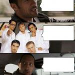 The Rock driving Backstreet Boys meme