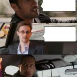 The Rock driving Snowden meme