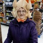 Crazy Lady Turkey Head meme