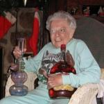 old lady partying  meme