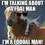 Foal Of Mine Meme | I'M TALKING ABOUT A FOAL MAN I'M A FOOOAL MAN! | image tagged in memes,foal of mine,animals,soul man,funny | made w/ Imgflip meme maker