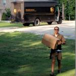 UPS delivery guy meme