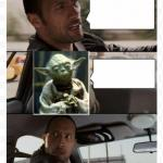 The Rock Yoda meme