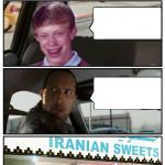 Bad Luck Brian Disaster Taxi runs into Iranian Sweet store meme