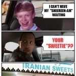 Bad Luck Brian Disaster Taxi Runs Into Iranian Sweet Store