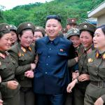 Kim Jung Un with women ladies meme