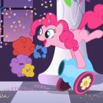 Pinkie Pie's party cannon explosion