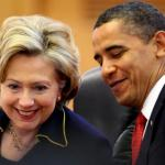 Obama and Hillary Laughing meme