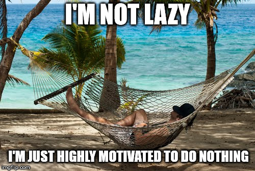 It's not as easy as it looks | I'M NOT LAZY I'M JUST HIGHLY MOTIVATED TO DO NOTHING | image tagged in relax on a hammock,laziness,motivation | made w/ Imgflip meme maker