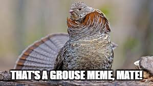 THAT'S A GROUSE MEME, MATE! | made w/ Imgflip meme maker
